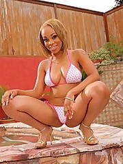 Super hot ebony skin  babe melorose..