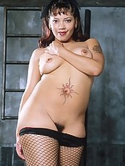 Thick assed black babe with nice tits..
