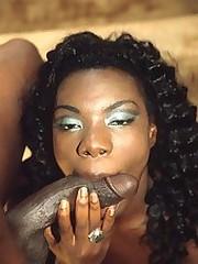 Black cum slut sucks cock and gets..