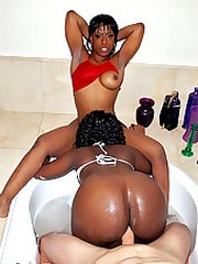 Two naked bootyfull fucking mega ass black teens get drilled in these hot semi outdoor 3some fucking pics