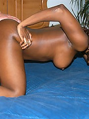 Hot ass ebony babe gettin crushed poolside and gettin nutt on her ass